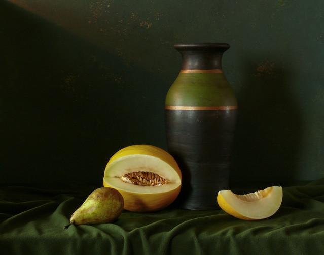 Marcel Martwa natura z melonem