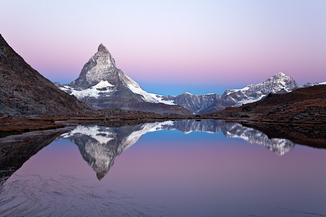 Heaven is a place on Earth Matterhorn reflection at Riffelsee,
