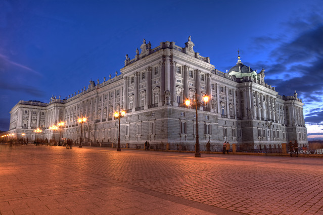 Wojciech Toman Blue hour over Royal Palace in Madrid
