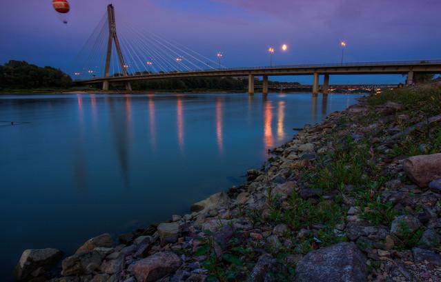 Wojciech Toman Most Świętokrzyski wieczorem