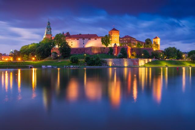 Kraków w odbiciu Wisły Marcin Rydzewski #324739