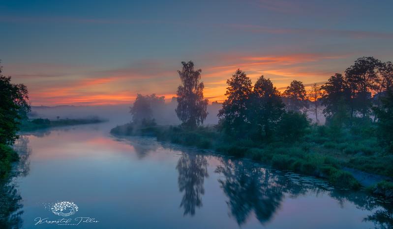 Krzysztof Tollas|Sunrise on the river Gwda