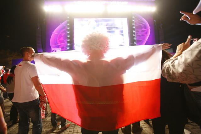 Warszawa 12 czerwca 2012 EURO strefa kibica na pl. Defilad pod