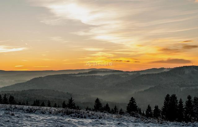 zima zachód słońca ARTUR NOBEL #183044