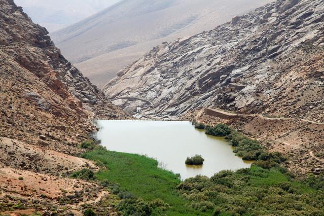 Punkt widokowy (Embalse de Las Penitas ) Wyspy Kanaryjskie.