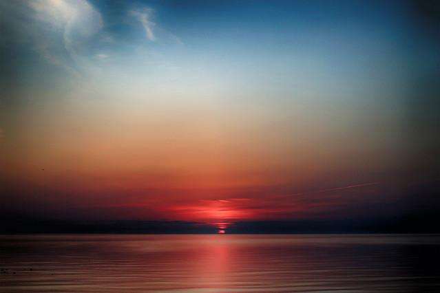 Bałtyk Zachód słońca nad Bałtykiem. Kłajpeda, Litwa ROleksandra