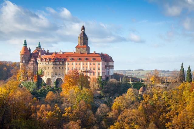 Zamek Książ w jesiennych barwach. Piotr Schmidt #300559