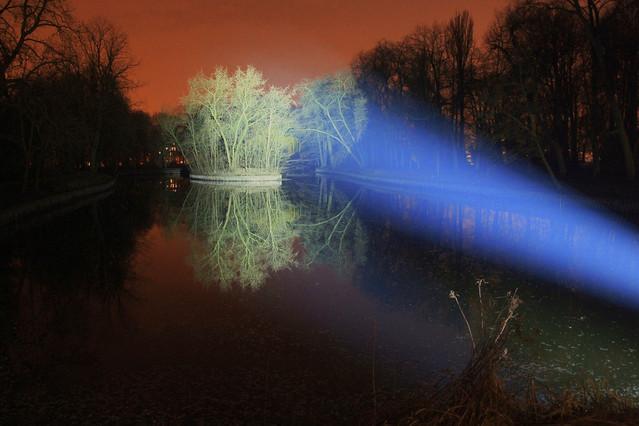 Picasa zimowy wieczór światła w Łazienkach II