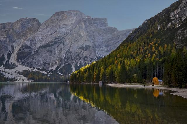 Zmierzch Lago di Braies, Dolomity, Włochy JAN SIEMINSKI #312482